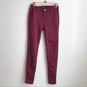 Celebrity Pink Maroon Mid Rise Skinny Jeans 5/27